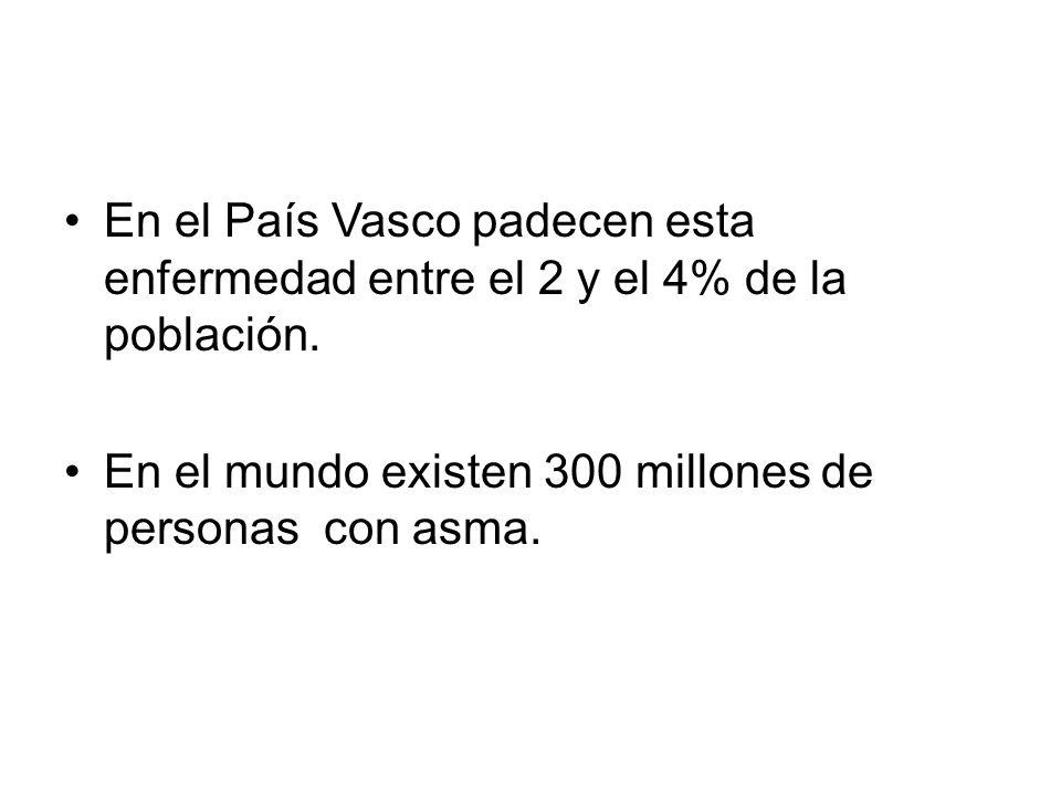 En el País Vasco padecen esta enfermedad entre el 2 y el 4% de la población. En el mundo existen 300 millones de personas con asma.