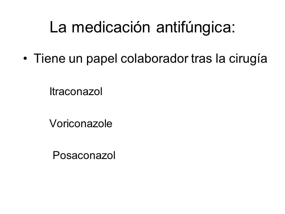 La medicación antifúngica: Tiene un papel colaborador tras la cirugía Itraconazol Voriconazole Posaconazol