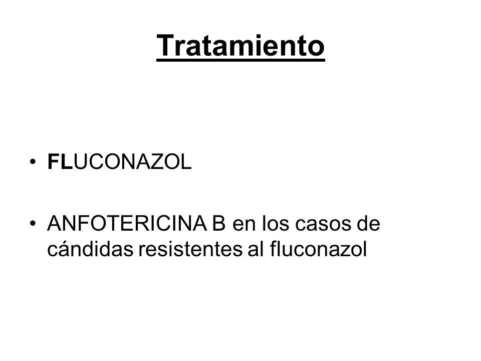 Tratamiento FLUCONAZOL ANFOTERICINA B en los casos de cándidas resistentes al fluconazol