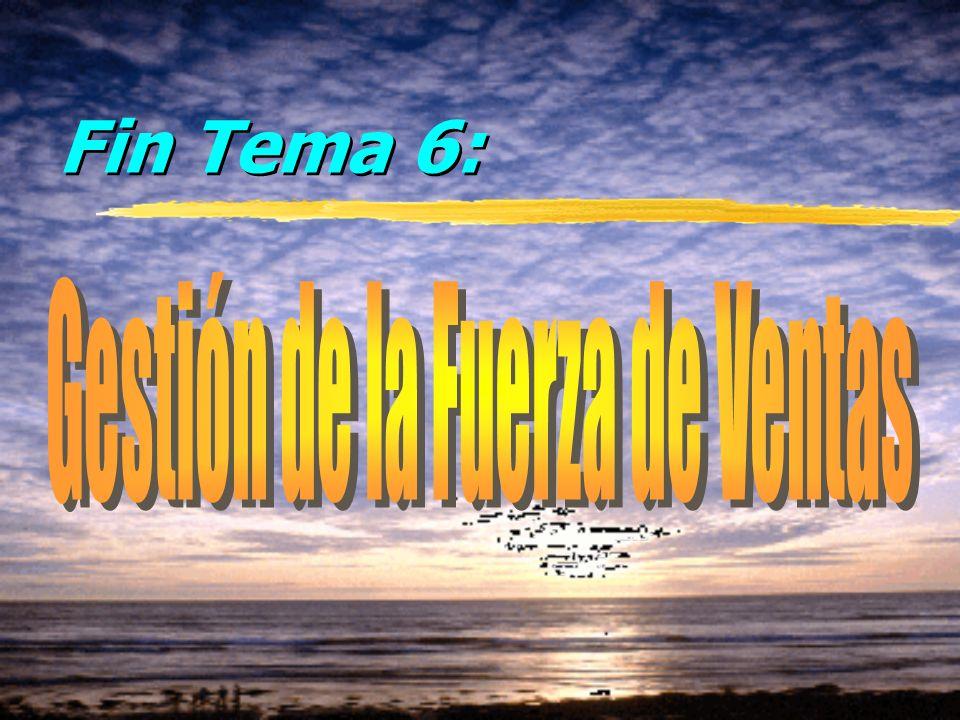 © Enrique Pérez del Campo, 2000 11 Tema 6: Gestión de Ventas Evaluación La evaluación tiene por objetivo identificar áreas de mejora (necesidades de f