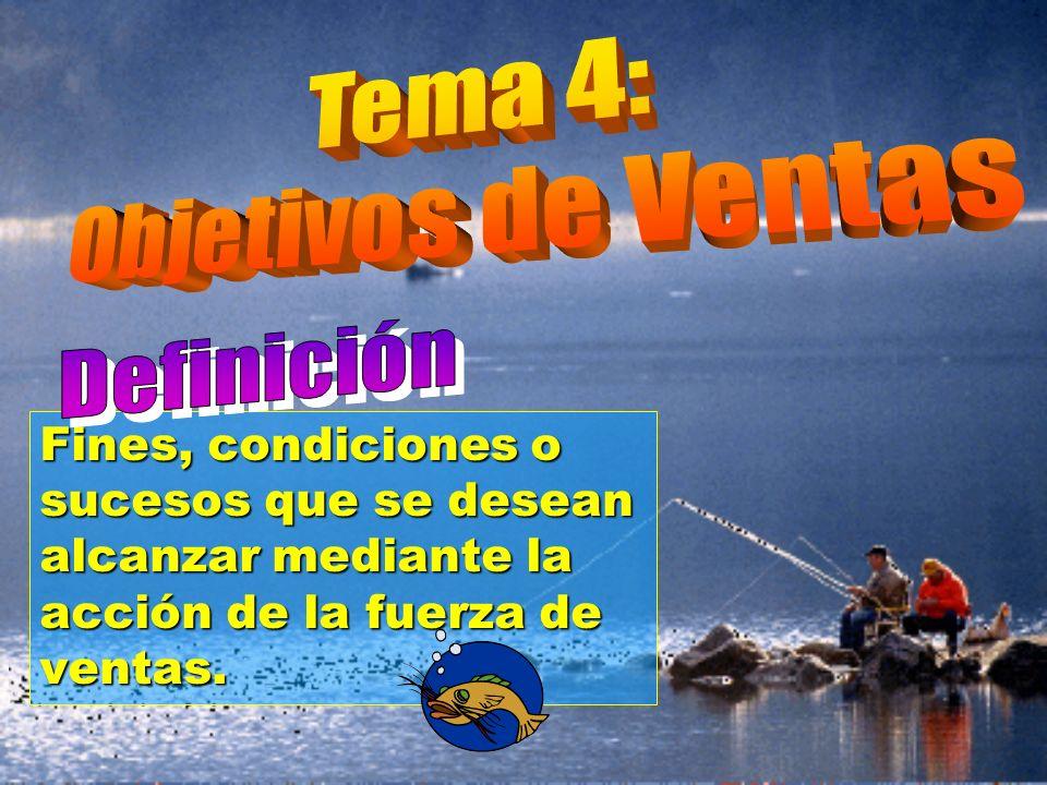 © Enrique Pérez del Campo, 2000 11 Tema 4: Objetivos de Ventas 4.3.