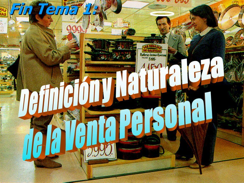 © Enrique Pérez del Campo, 2000 Tema 1: Definición y naturaleza de la venta personal 47 Tamaño de la Fuerza de Ventas o Red de Ventas * No existe una regla única y determinante.