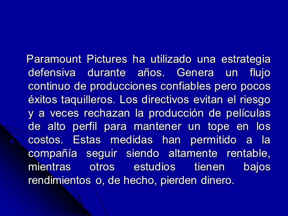 Paramount Pictures ha utilizado una estrategia defensiva durante años. Genera un flujo continuo de producciones confiables pero pocos éxitos taquiller