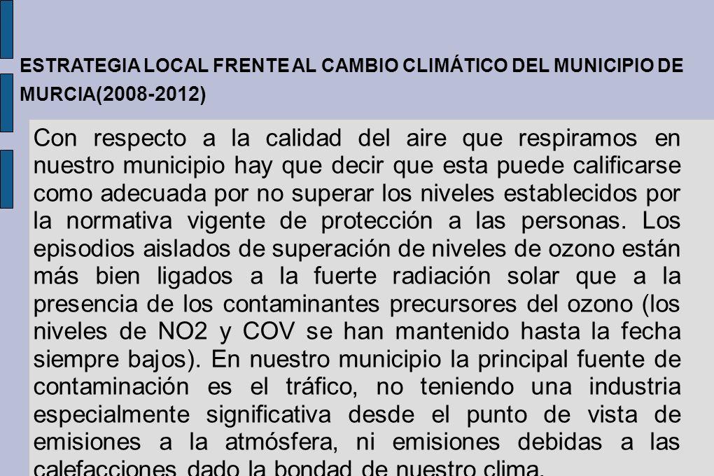 Con respecto a la calidad del aire que respiramos en nuestro municipio hay que decir que esta puede calificarse como adecuada por no superar los nivel
