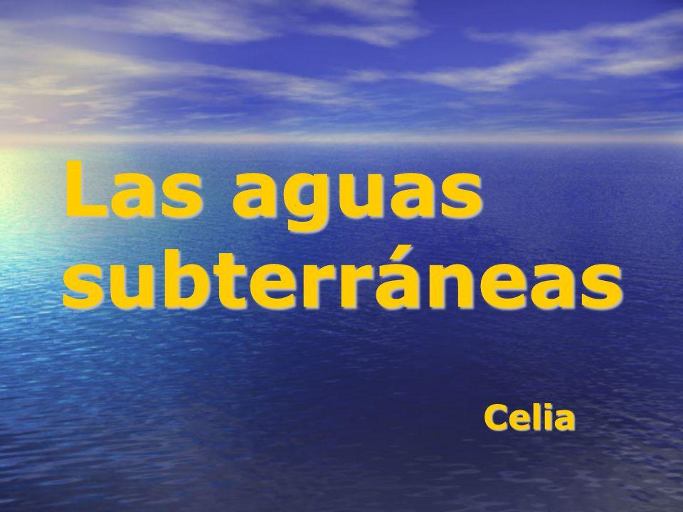 Las aguas subterráneas Celia