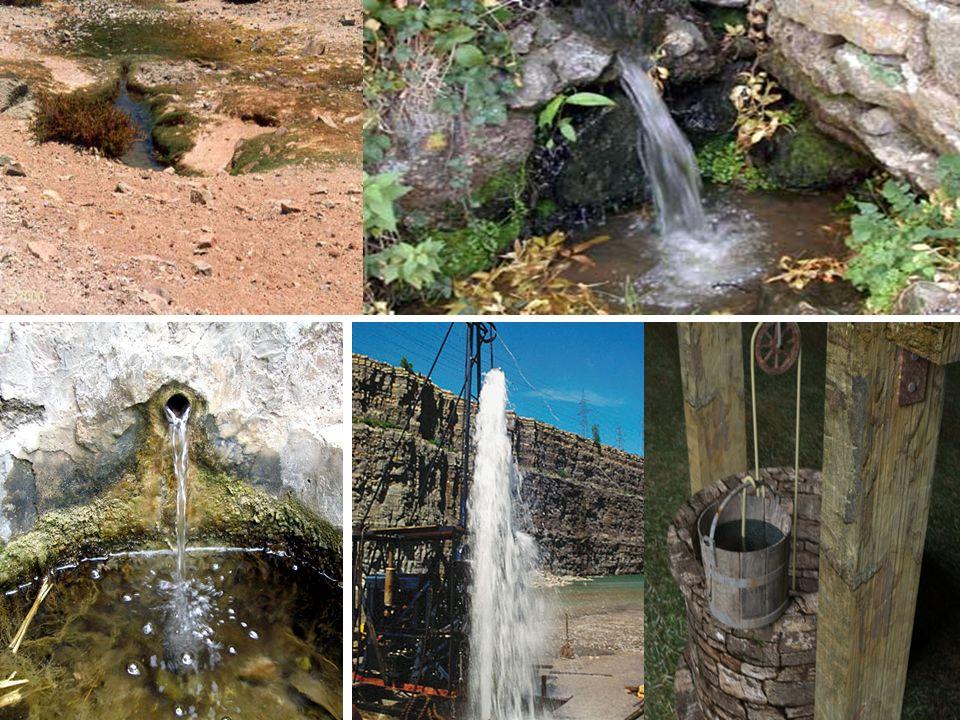 AGUAS SUBTERRÁNEASAGUAS SUPERFICIALES Reservas Representan sobre la superficie de la Tierra más del 97%.