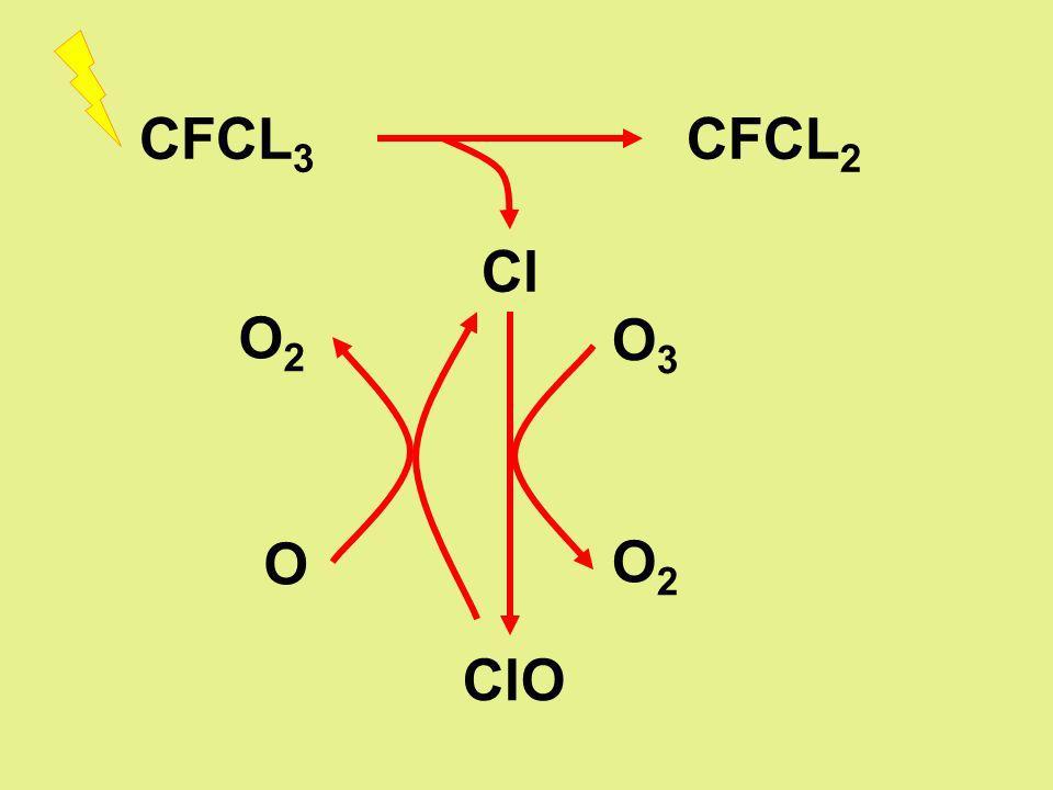 CFCL 3 CFCL 2 Cl ClO O3O3 O2O2 O2O2 O
