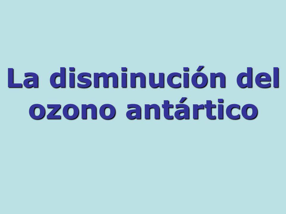 La disminución del ozono antártico