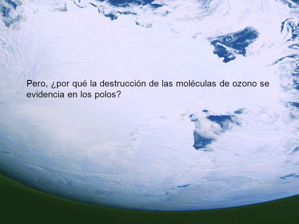 Pero, ¿por qué la destrucción de las moléculas de ozono se evidencia en los polos