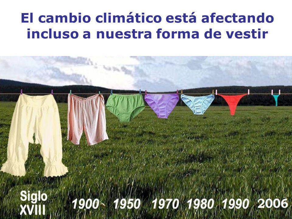 El cambio climático está afectando incluso a nuestra forma de vestir