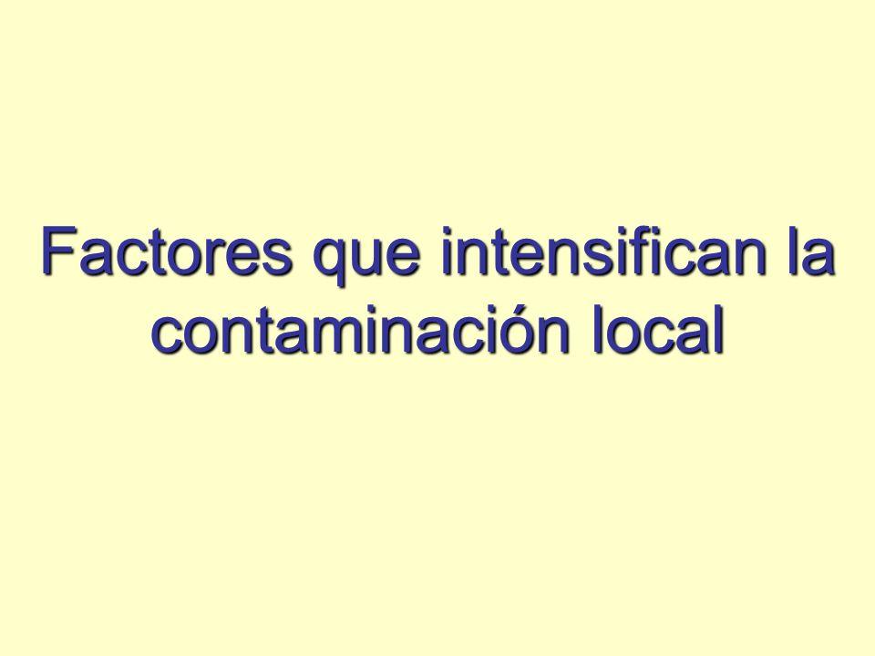 Factores que intensifican la contaminación local