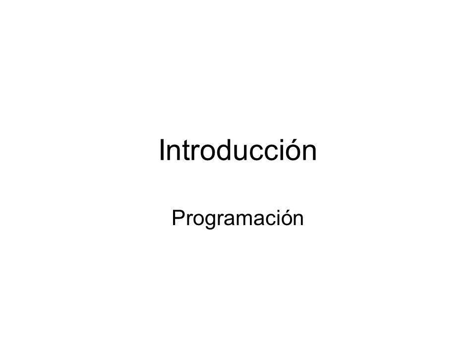 Introducción Programación