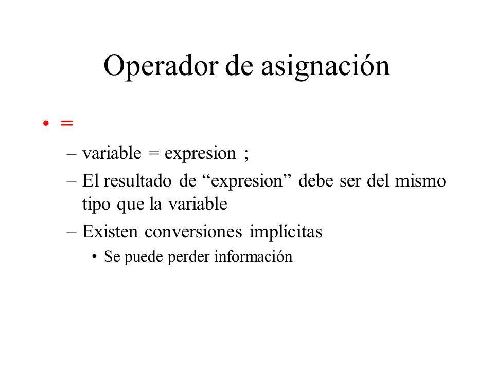 Operadores lógicos y relacionales Precedencia ! > >= < <= == != && ||