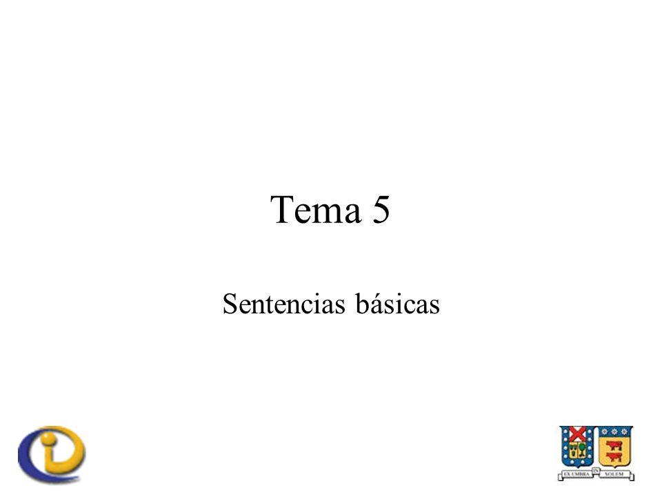 Tema 5 Sentencias básicas
