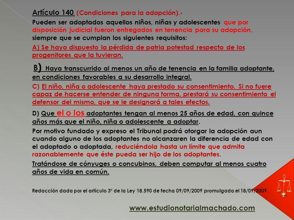 Artículo 140.