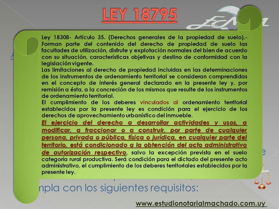 HORIZONTALIDAD ADQUIRIDA DEFINITIVA Artículo 20. (Horizontalidad adquirida).- Los edificios construidos al amparo de lo dispuesto por la Ley Nº 10.751
