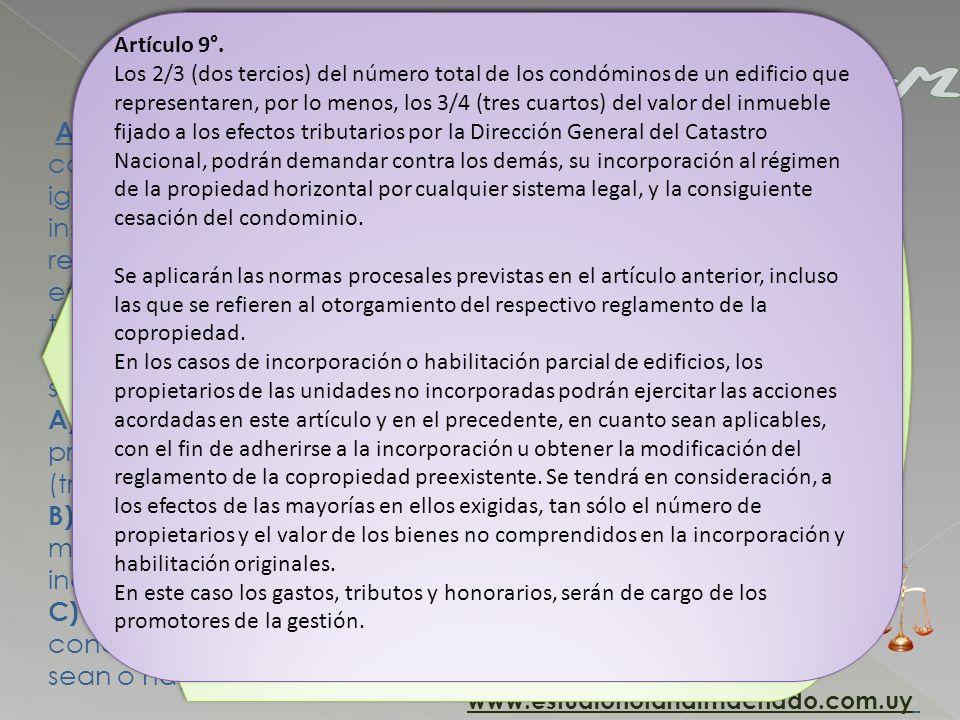 Artículo 10. Los derechos acordados a los copropietarlos y condóminos en los artículos precedentes, podrán ser ejercitados igualmente por los promiten