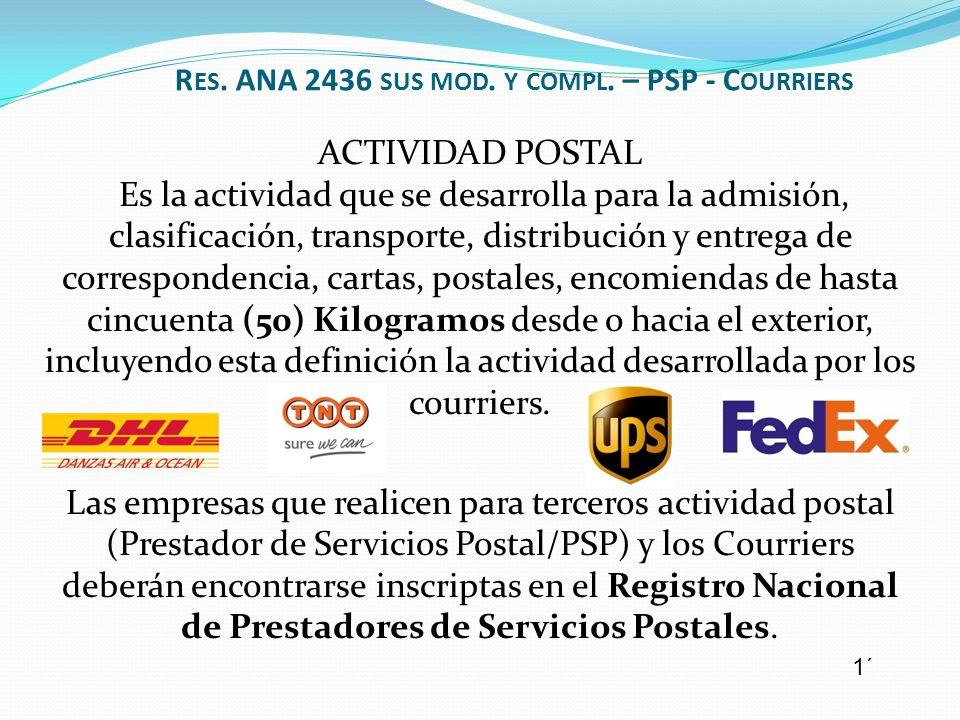 ACTIVIDAD POSTAL Es la actividad que se desarrolla para la admisión, clasificación, transporte, distribución y entrega de correspondencia, cartas, pos