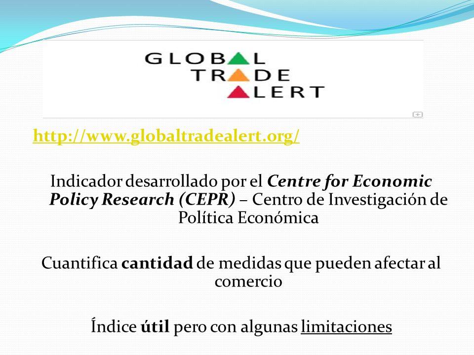 http://www.globaltradealert.org/ Indicador desarrollado por el Centre for Economic Policy Research (CEPR) – Centro de Investigación de Política Económ