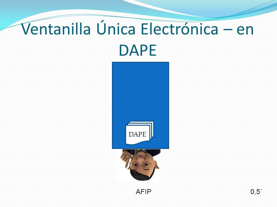 Ventanilla Única Electrónica – en DAPE AFIP DAPE 0,5´