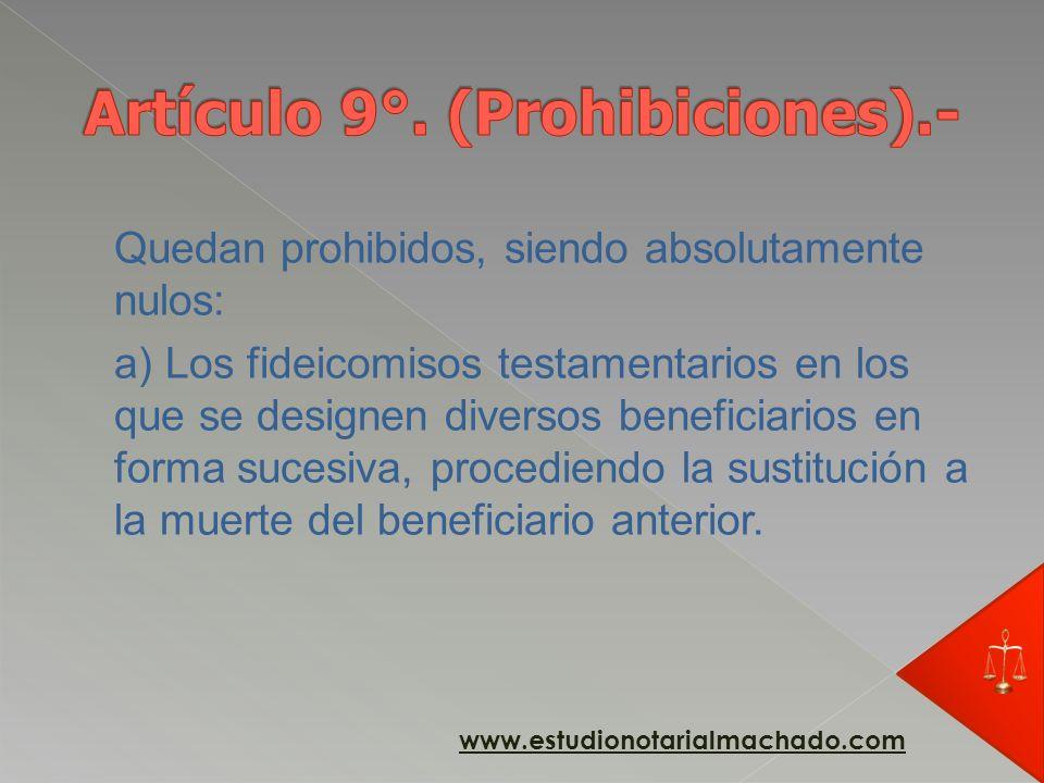 b) El fideicomiso en el cual se designe beneficiario al fiduciario salvo en los casos de fideicomiso en garantía constituidos a favor de una entidad d