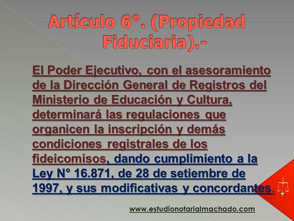 Los bienes y derechos fideicomitidos constituyen un patrimonio de afectación, separado e independiente de los patrimonios del fideicomitente, del fidu