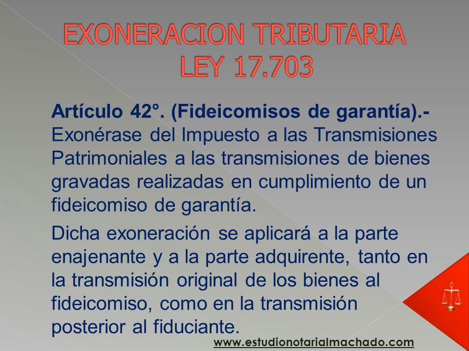 Artículo 33°. (Causas de extinción).- Serán causas de extinción del fideicomiso: Artículo 33°. (Causas de extinción).- Serán causas de extinción del f