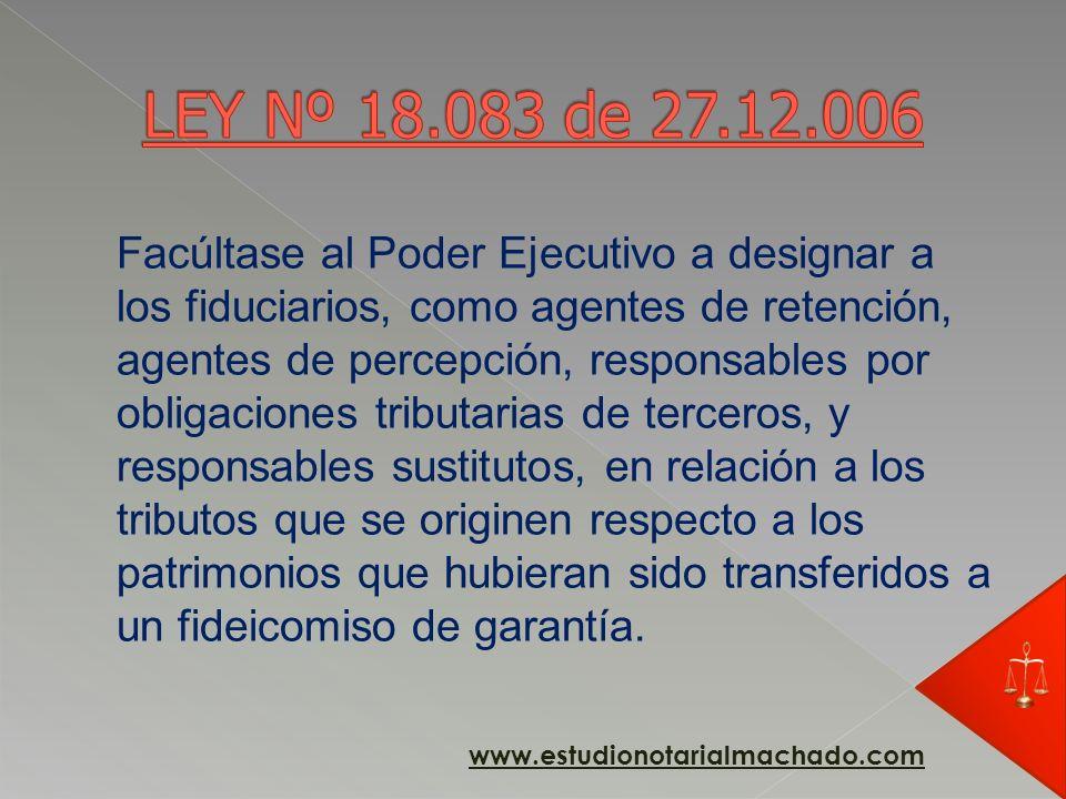 TITULO 8 - DISPOSICIONES VARIAS ARTÍCULO 58º.- Fideicomiso de garantía.- Cuando se constituya un fideicomiso de garantía, la transferencia del patrimo