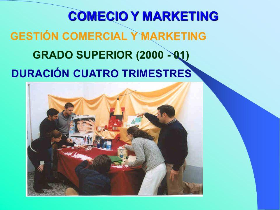 GESTIÓN COMERCIAL Y MARKETING COMECIO Y MARKETING DURACIÓN CUATRO TRIMESTRES GRADO SUPERIOR (2000 - 01)