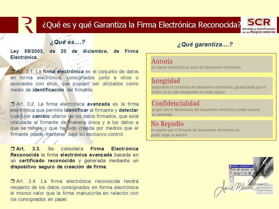 ¿Qué es y qué Garantiza la Firma Electrónica Reconocida.