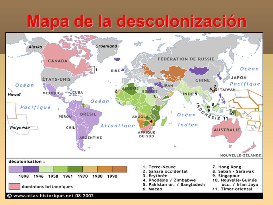 Mapa de la descolonización