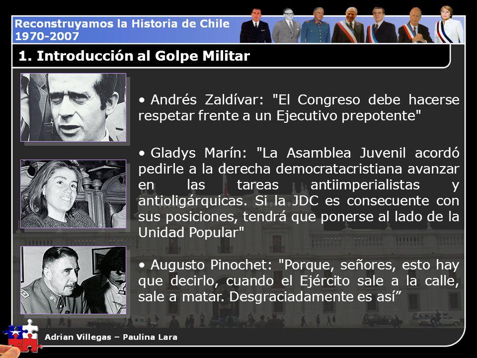 1. Introducción al Golpe Militar Andrés Zaldívar: