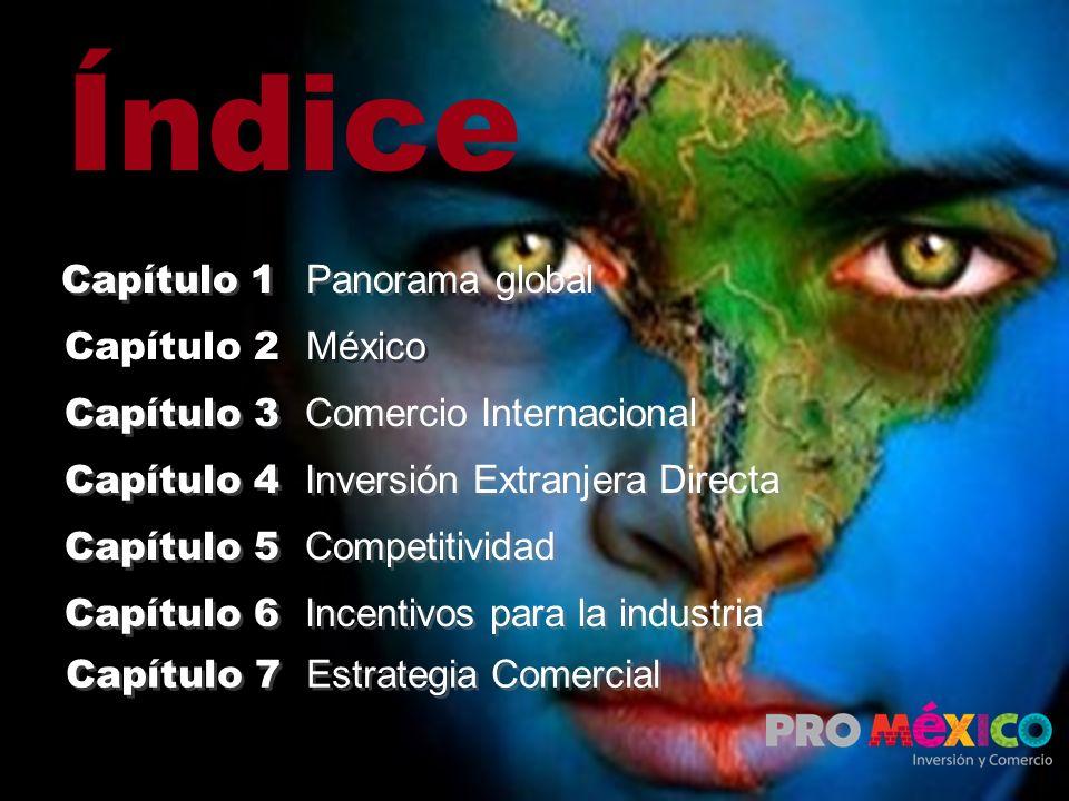 Índice Capítulo 2 México Capítulo 3 Comercio Internacional Capítulo 4 Inversión Extranjera Directa Capítulo 5 Competitividad Capítulo 6 Incentivos par