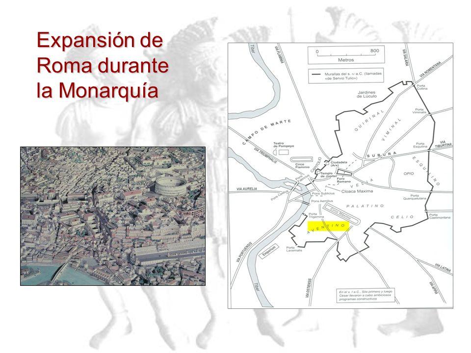 El régimen Monárquico finaliza luego de que su último Rey, Tarquino el soberbio (etrusco), fuese expulsado del poder por los Patricios latinos en el a