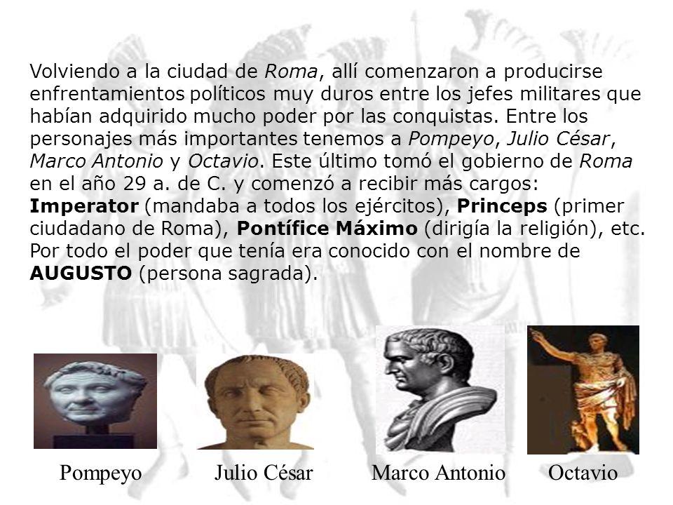 Los conflictos sociales no se dieron solamente en la ciudad de Roma. En sus conquistas fueron ayudados por algunos otros pueblos (sus aliados) pero su