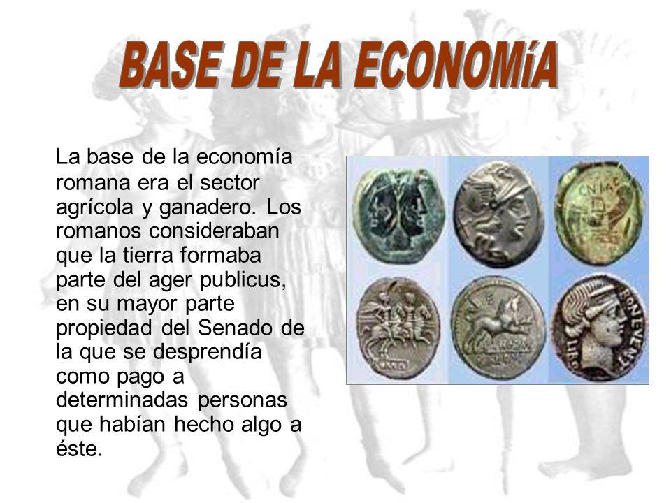 Desde la llegada de los romanos, la península es lugar de abastecimiento. Especialidades de Hispania: dentro de la agricultura, el trigo y dentro de l