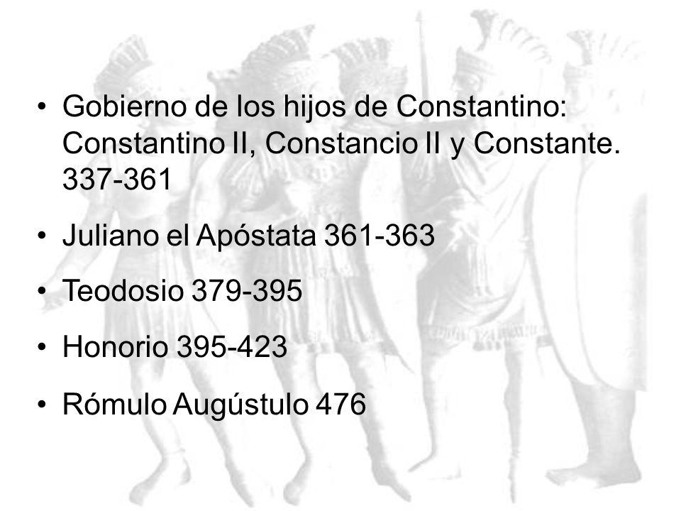 Dinastía Iliria Marco Aurelio Cludion 268-270 Domicio Aureliano 270-275 Claudio Tácito 275-276 Marco Aurelio Probo 276-281 Marco Aurelio Caro 281-283