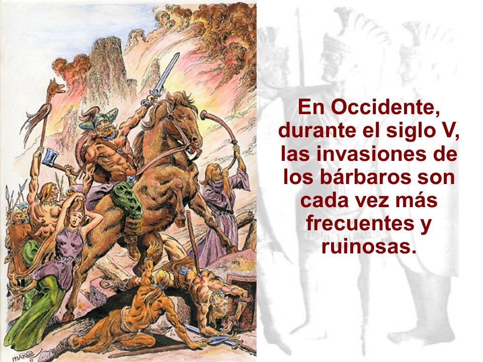 VIDA Y CULTURA DE LOS GERMANOS Gente ruda. Ocupaban tierras pobres, de pantanos y bosques y vivían en poblados de casas de madera. Medio de vida :gana