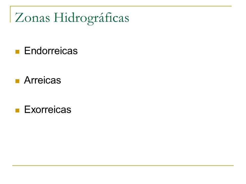 Zonas Hidrográficas Endorreicas Arreicas Exorreicas