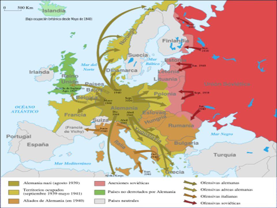Batallas importantes Stalingrado Stalingrado El Alamein El Alamein Desembarco en Normandía Desembarco en Normandía