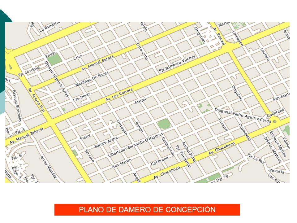 PLANO DE DAMERO DE CONCEPCIÓN