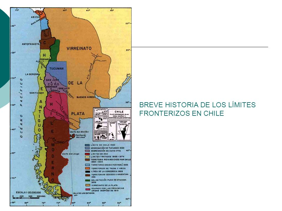 BREVE HISTORIA DE LOS LÍMITES FRONTERIZOS EN CHILE