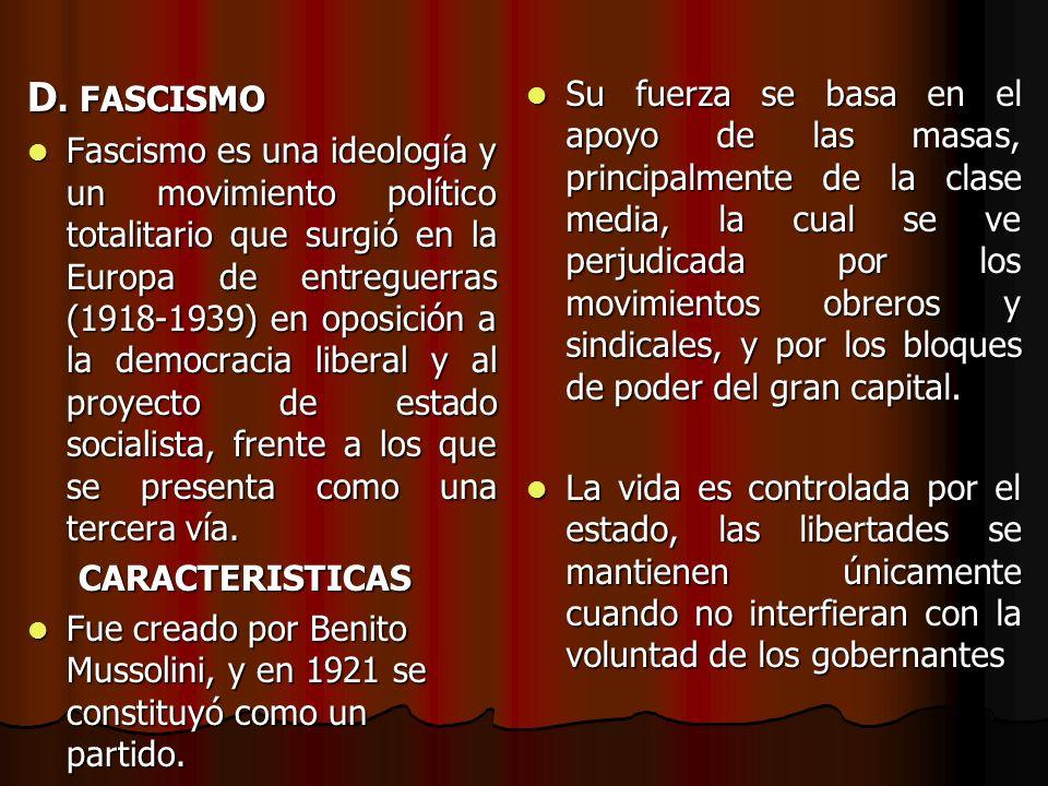 c) TOTALITARISMO Es la absorción completa de la sociedad civil por el Estado. En un estado totalitario hay falta de: Es la absorción completa de la so