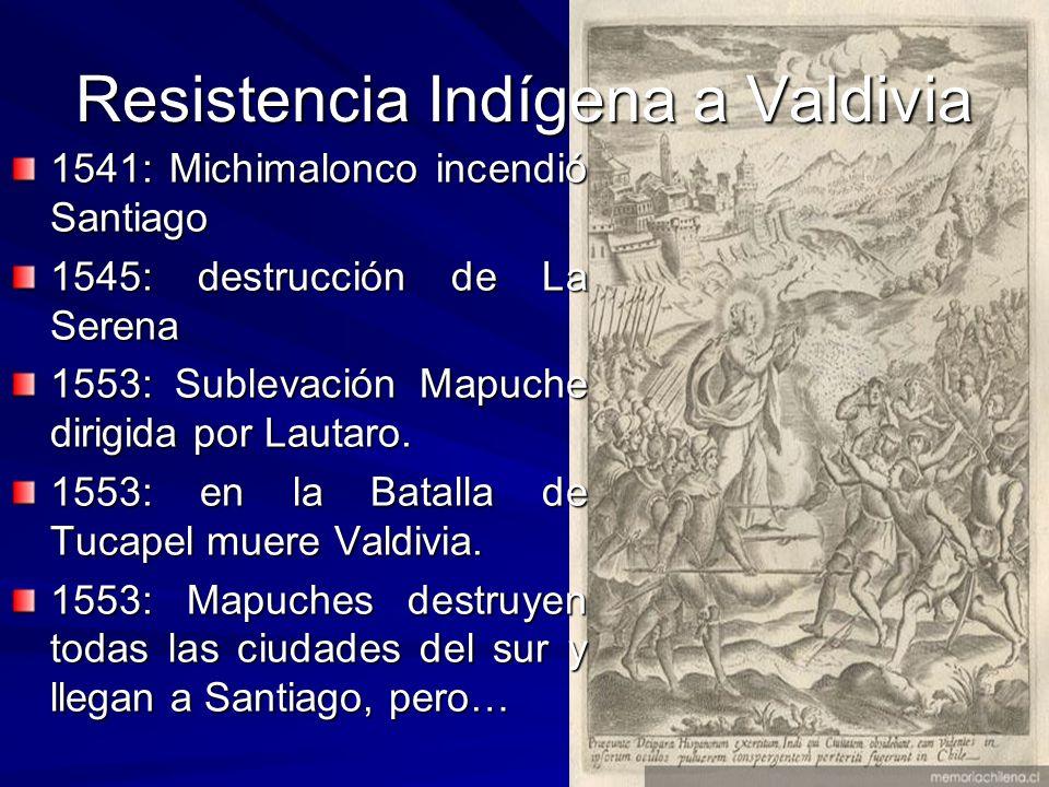 Gobernación de Chile 1547: Valdivia regresó al Perú a someterse a la autoridad del Virrey Pedro de La Gasca quién lo confirma gobernador de Chile.