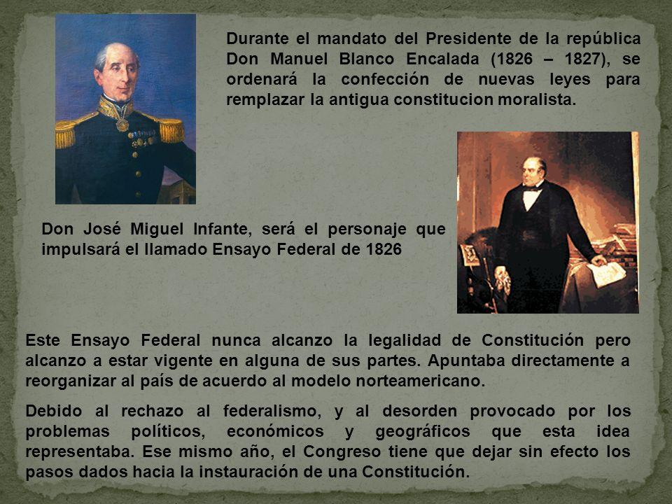 ¿Como se llama al ensayo constitucional de 1826.ENSAYO FEDERAL ¿Quién fue su creador.