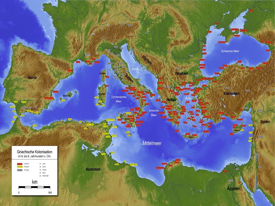 Gracias a esta enorme red colonial el comercio griego creció inusitadamente.