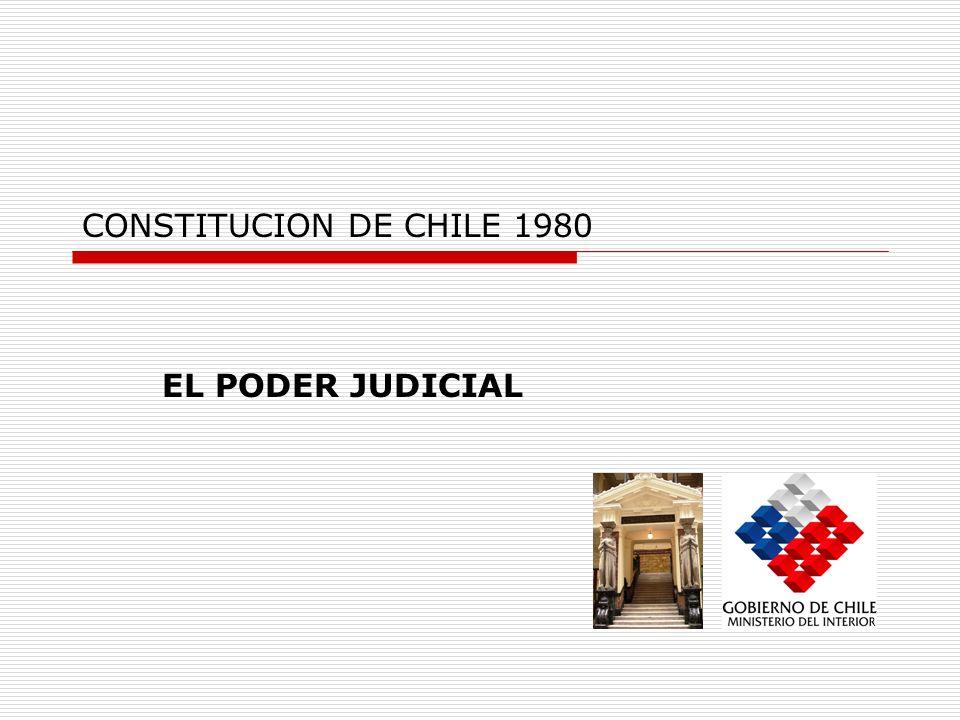 CONSTITUCION DE CHILE 1980 EL PODER JUDICIAL