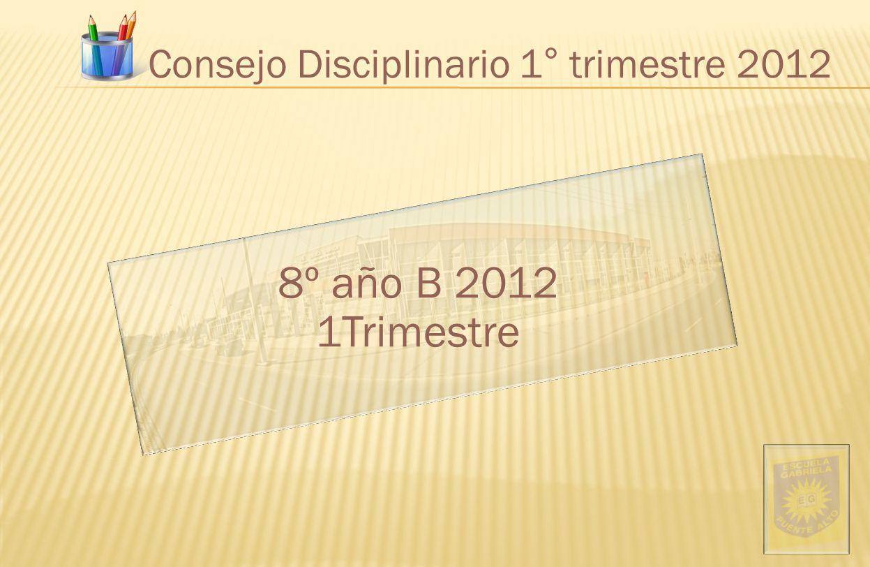 Consejo Disciplinario 1° trimestre 2012 8º año B 2012 1Trimestre
