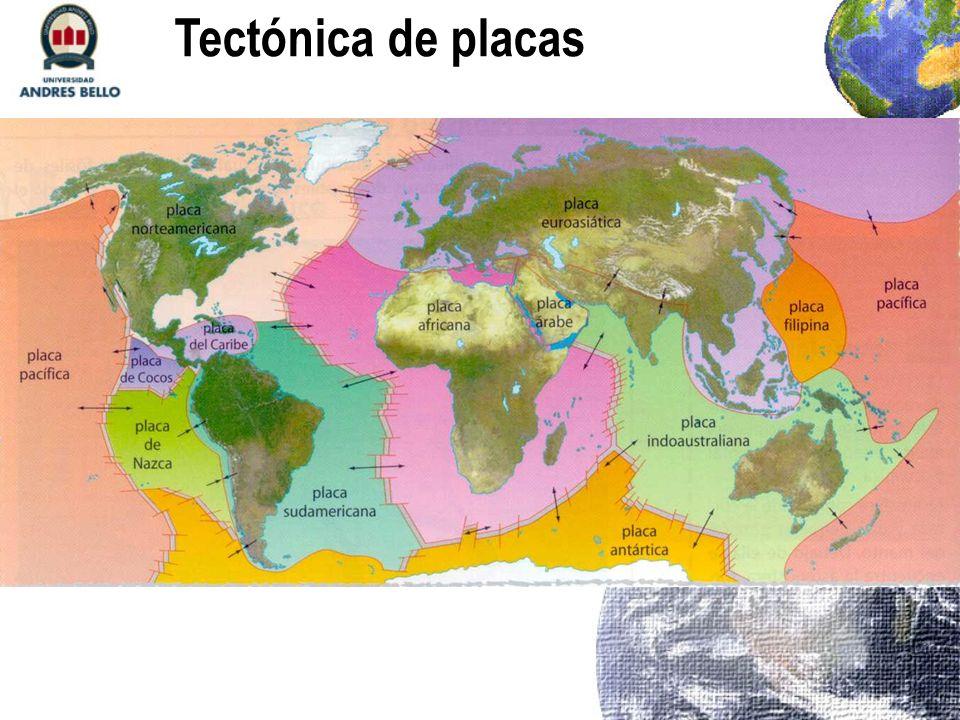 1) Observa el mapa de tectónica de placas y un mapa político de América y ubica a Haití y Chile.