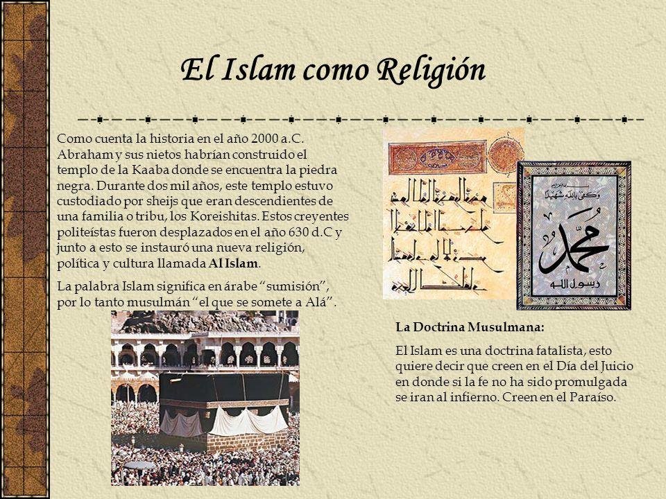 El Islam como Religión Como cuenta la historia en el año 2000 a.C. Abraham y sus nietos habrían construido el templo de la Kaaba donde se encuentra la